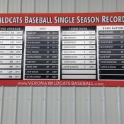 Wildcat Baseball Record
